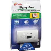 Kidde C3010D Worry-Free 10-Year Sealed Lithium Battery Operated CO Alarm with Digital Display