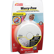 Kidde P3010B Worry-Free Bedroom 10-Year Sealed Lithium Battery Operated Smoke Alarm