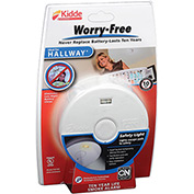 Kidde P3010H Worry-Free Smoke Alarm, Hallway 10-Year Sealed Lithium Battery Operated