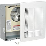 King Forced Air Wall Heater W1210, 1000W, 120V, White