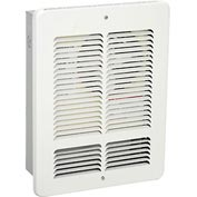 King Forced Air Wall Heater W1215, 1500W, 120V, White