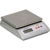 "Digital Portion Scale 4lb 6oz x 1/8oz/2000 x 0.5g/70 x 0.02oz Removable 6-3/4"" x 7"" SS Platform"