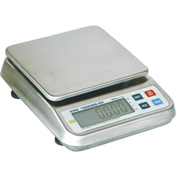 "Digital Portion Scale 5000g x 1g 6-3/4"" x 7"" SS Platform - Multiple Units"