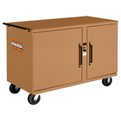 Knaack 59 Storagemaster® Heavy-Duty Rolling Work Bench, 1,000 Lbs, Steel, Tan
