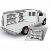 Weather Guard Commercial Shelving Van Package, Full-Size, Ford, GM - 600-9100