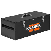 "Knaack 743 Hand Tool Box, 26""L, 1.5 Cu. Ft., Steel, Black"