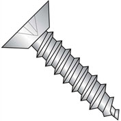 #2 x 1/4 Phillips Flat Undercut Self Tapping Screw Type AB Full Thread 18-8 Stainless - Pkg of 5000