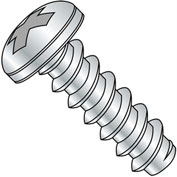 #3 x 3/8 Phillips Pan Self Tapping Screw - Type B - Fully Threaded - Zinc Bake - Pkg of 10000