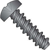 #4 x 1/4 #3HD Phillips Pan High Low Screw Fully Threaded Black Zinc Bake - Pkg of 10000