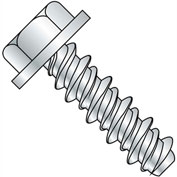 #4 x 1/4 #3HD Unslotted Indented Hex Washer High Low Screw - Full Thread - Zinc - Pkg of 10000