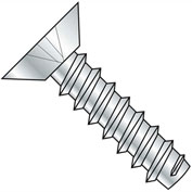 #4 x 5/16 Phillips Flat Undercut Self Tapping Screw Type B Fully Threaded Zinc - Pkg of 10000