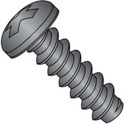 #4 x 3/8 Phillips Pan Self Tapping Screw Type B Fully Threaded Black Oxide - Pkg of 10000