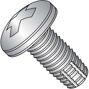 4-40X3/8  Phillips Pan Thread Cutting Screw Type F Full Thrd 18 8 Stainless Steel, Pkg of 5000