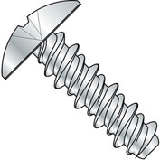#4 x 3/8 #3 Head Phillips Truss High Low Screw Fully Threaded Zinc Bake - Pkg of 10000