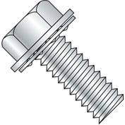 4-40X3/8  Unslotted Ind Hex Washer Internal Sems Machine Screw Full Thread Zinc Bake, Pkg of 10000