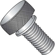 4-40X3/8  Knurled Thumb Screw with Washer Face Full Thread 18 8 Stainless Steel, Pkg of 100