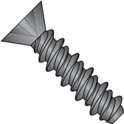 #4 x 1/2 Phillips Flat High Low Screw Fully Threaded Black Oxide and Oil - Pkg of 10000