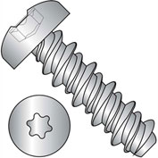 #4 x 1/2 #3HD Six Lobe Pan High Low Screw Fully Threaded 410 Stainless Steel - Pkg of 5000