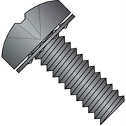 6-32X1/4  Phillips Pan Internal Sems Machine Screw Fully Threaded Black  Zinc Bake, Pkg of 10000