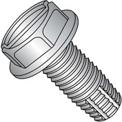 6-32X3/8  Slotted Indented Hex Washer Thread Cutting Screw Type F Fully Thread 18 8 Stain,5000 pcs