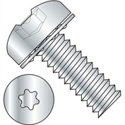 6-32X3/8  Six Lobe Pan Head Internal Tooth Sems Machine Screw Full Thrd Zinc Bake, Pkg of 10000