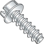 #6 x 3/8 Slotted Indented Hex Washer Plastite alt. 48-2 Full Thread - Zinc - Pkg of 10000