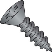 #6 x 1/2 Phillips Flat Self Tapping Screw Type A Fully Threaded Black Oxide - Pkg of 10000