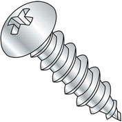 #6 x 1/2 Phillips Round Self Tapping Screw Type A Fully Threaded Zinc Bake - Pkg of 10000