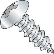 #6 x 1/2 Phillips Full Contour Truss Self Tapping Screw Type A Full Thread Zinc Bake - Pkg of 10000