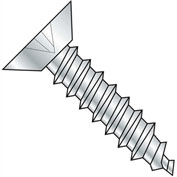#6 x 5/8 Phillips Flat Undercut Self Tapping Screw Type AB Fully Threaded Zinc Bake - Pkg of 10000