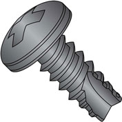 #8 x 3/8 Phillips Pan Thread Cutting Screw Type 25 Full Thread Black Oxide and Oil - Pkg of 10000