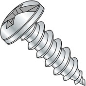 #8 x 3/8 Combination Pan Head Self Tapping Screw Type AB Fully Threaded Zinc Bake - Pkg of 10000