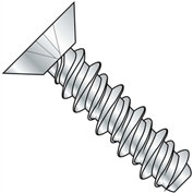 #8 x 3/8 Phillips Flat Undercut High Low Full Thread - Zinc - Pkg of 10000
