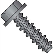 #8 x 3/8 #6HD Unslotted Indented Hex Washer High Low Screw Full Thread Black Oxide - Pkg of 10000