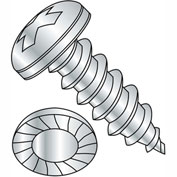 #8 x 1/2 Phillips Pan Serrated Self Tapping Screw Type AB Fully Threaded Zinc Bake - Pkg of 10000