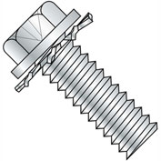 8-32X1/2  Phillips Indent Hex Washer External Sems Machine Screw Full Thread Zinc Bake, Pkg of 7000