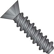 #8 x 1/2 Phillips Flat High Low Screw Fully Threaded Black Zinc Bake - Pkg of 10000