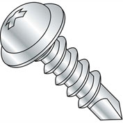 #8 x 3/4 Phillips Round Washer Head Self Drilling Screw Full Thread Zinc Bake - Pkg of 10000