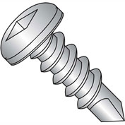 #8 x 3/4 Square Drive Pan Head Self Drilling Screw Full Thread 410 Stainless Steel - Pkg of 1500