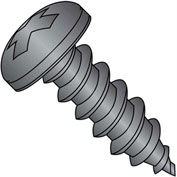 #8 x 1 Phillips Pan Self Tapping Screw Type A Fully Threaded Black Oxide - Pkg of 5000