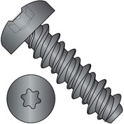 #8 x 1 #6HD Six Lobe Pan High Low Screw Fully Threaded Black Zinc Bake - Pkg of 5000