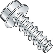 #8 x 1 Unslotted Indented Hex Washer Plastite alt. 48-2 Fully Threaded - Zinc - Pkg of 6000