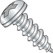 #8 x 1-1/4 Phillips Pan Self Tapping Screw Type A Fully Threaded Zinc Bake - Pkg of 4000