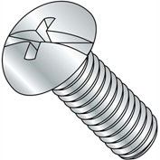 8-32X1 1/4  Combination (Phil/Slot) Round Head Fully Threaded Machine Screw Zinc, Pkg of 2000