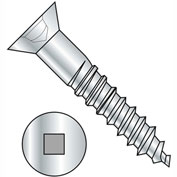 #8 x 1-1/2 Square Drive Flat Head Full Body Wood Screw Zinc - Pkg of 3000