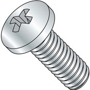 8-32X1 3/4  Phillips Pan Machine Screw Fully Threaded Zinc, Pkg of 2500