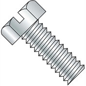 8-32X2 1/2  Slotted Indented Hex Head Machine Screw Fully Threaded Zinc, Pkg of 1000