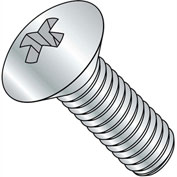 8-32X3  Phillips Oval Head Machine Screw Fully Threaded Zinc, Pkg of 1250