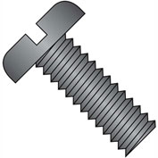 8-32X3  Slotted Pan Machine Screw Fully Threaded Black Oxide, Pkg of 1000