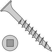 #8 x 4 Bugle Square Drive Course Thread Sharp Point Deck Screw Dacrotized - Pkg of 500